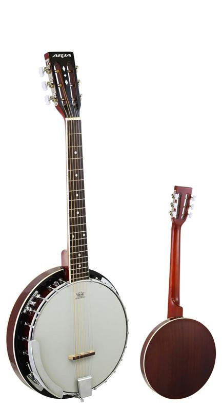 Aria 激安通販販売 SB-10G Guitar 毎週更新 Banjo:MH Mahogany アリア バンジョー