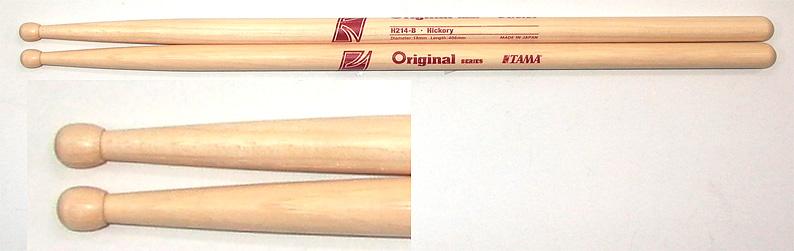 TAMA H214B (ヒッコリー) ドラムスティック を 1セット