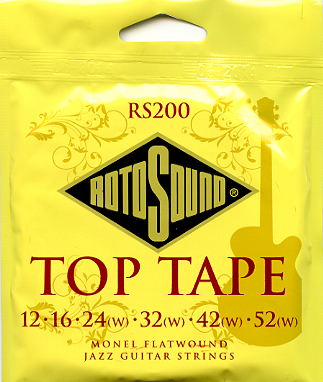 RotoSound (ロトサウンド) RS200 フラットワウンド ギター弦 12set