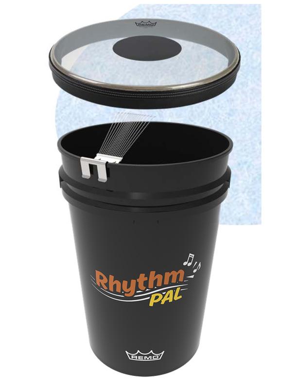 REMO Rhythm PAL バケツドラム CSスネアキット スネアクリップ付。ペールバケツとSETモデル