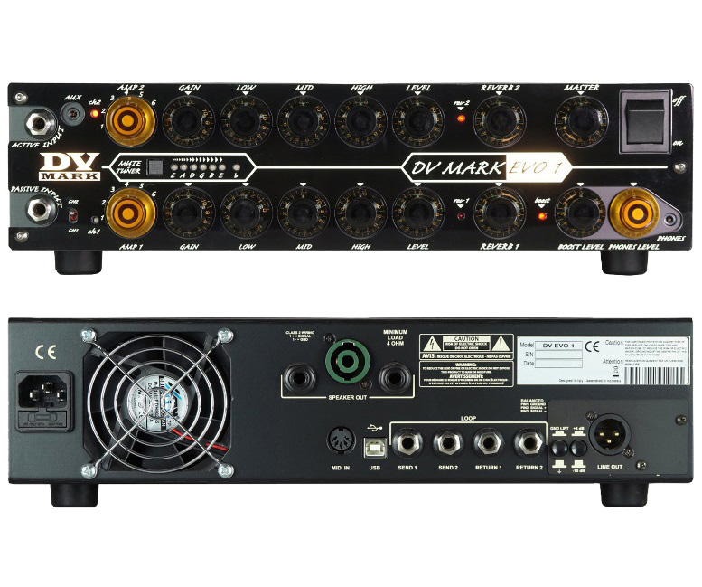 """DV Mark EVO1(ディーブイマーク・エボワン)"""" ギターアンプヘッド DVM-EVO1+コントローラーVM-EVO1/CTRのセット"""