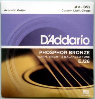期間限定お試し価格 D'Addario EJ26 Custom 着後レビューで 送料無料 Light Gaugeアコースティックギター弦 1セット