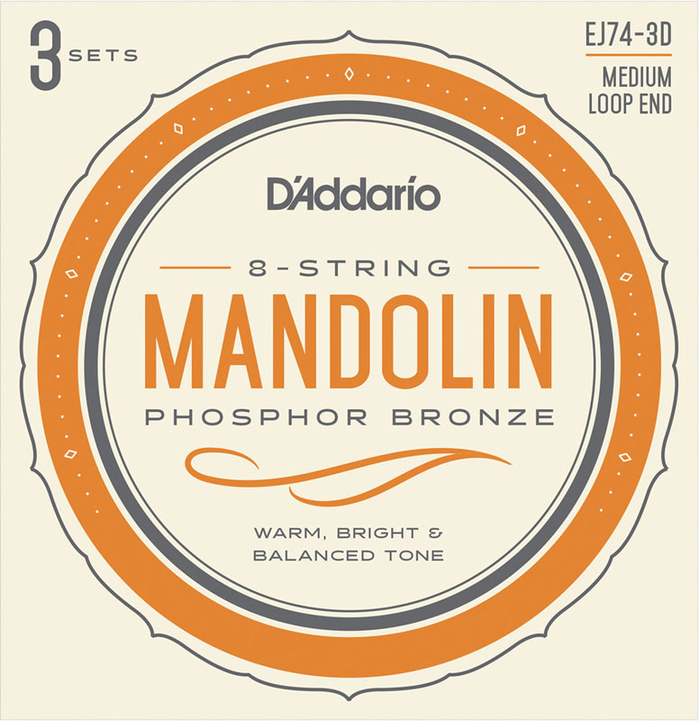 メール便送料無料 時間指定はできません D'Addario Multi-Packs EJ74-3D Mandolin Medium 11-40 Bronze 日本メーカー新品 Phosphor 日本未発売 Strings