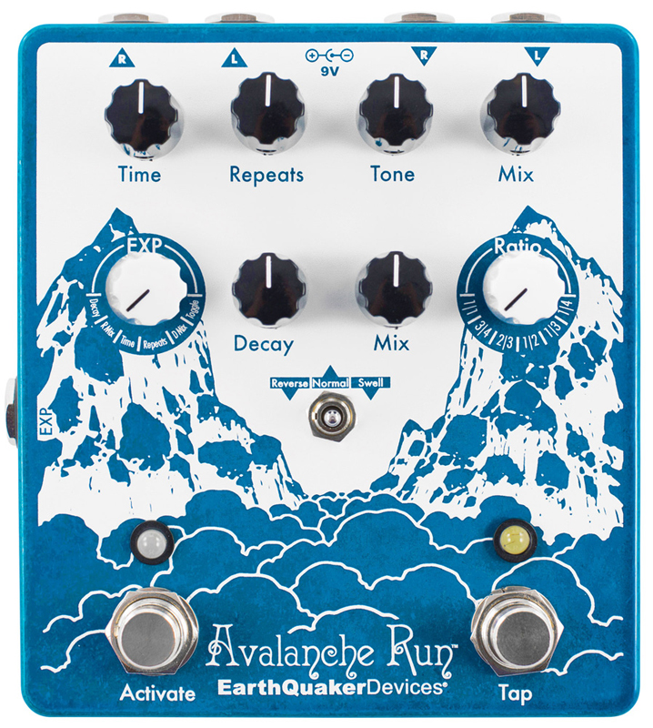 Earthquaker Avalanche Run Stereo Delay&Reverb