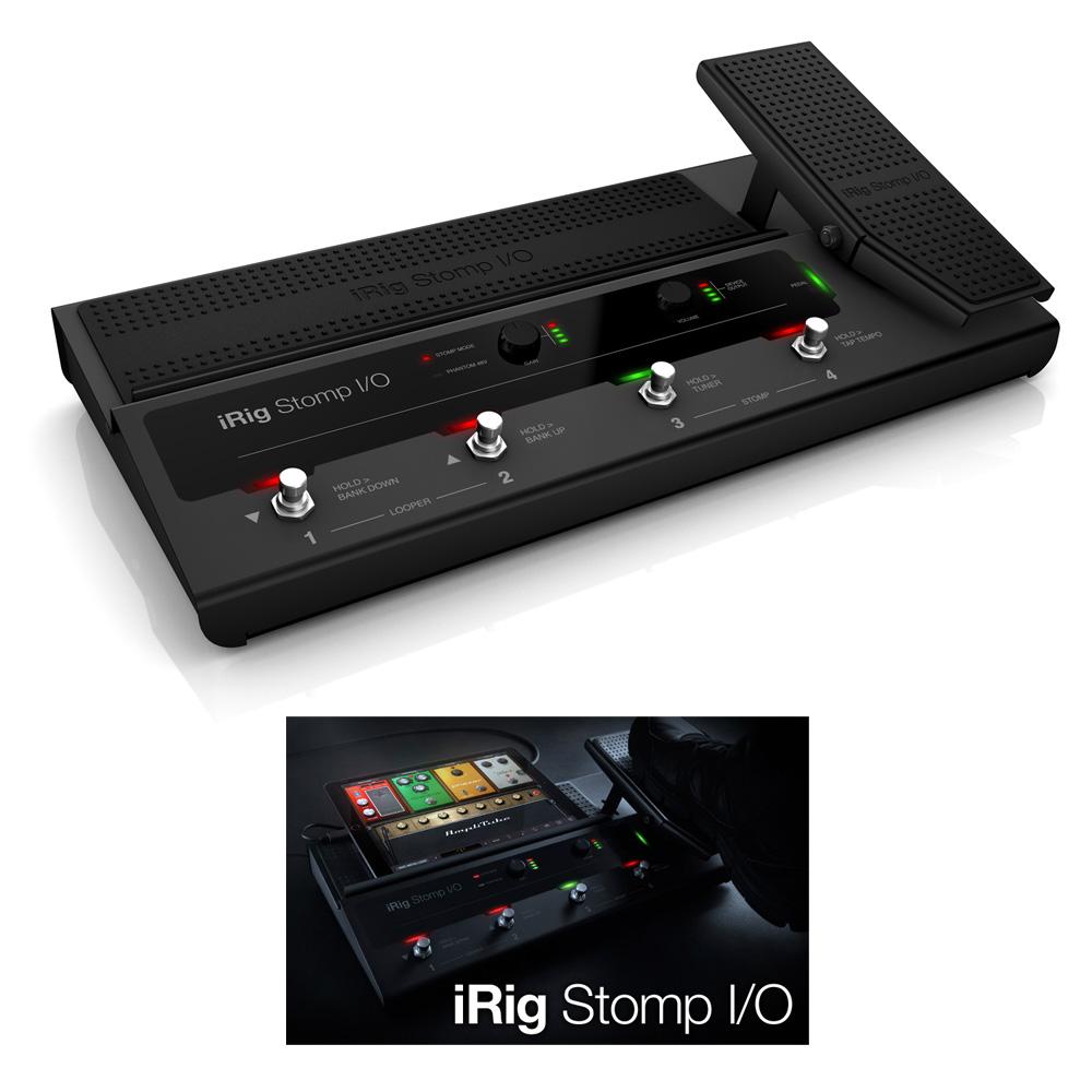 IK Multimedia iRig Stomp I/O ペダルボード・コントローラー/オーディオインターフェイス【国内正規品】