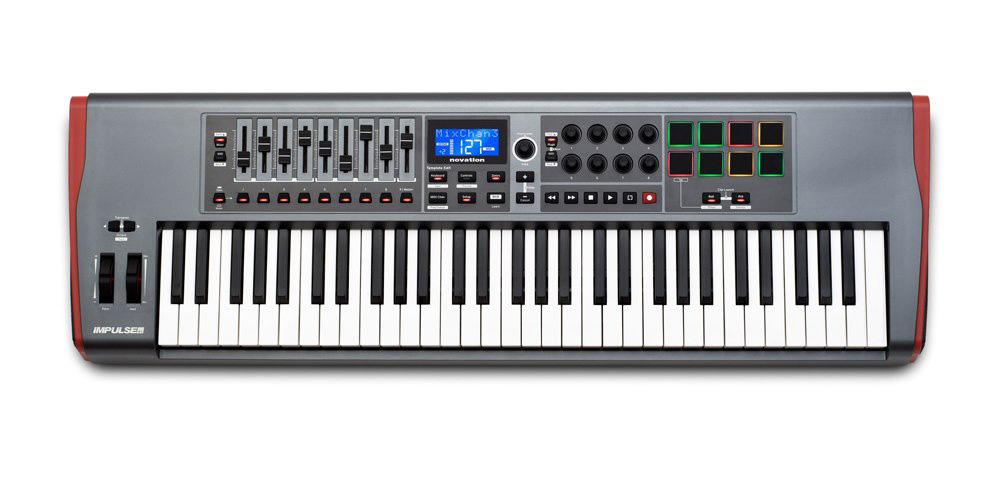 柔らかな質感の novation IMPULSE 61 61鍵MIDI キーボード・コントローラー, キサラヅシ b74580bd