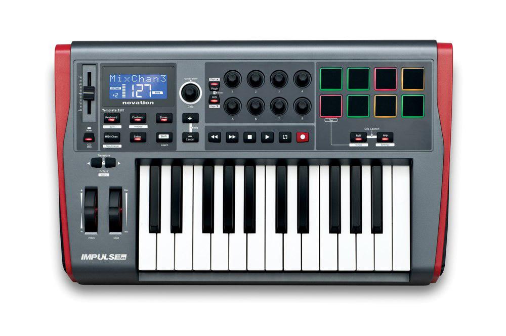 novation IMPULSE 25 25鍵MIDI キーボード・コントローラー