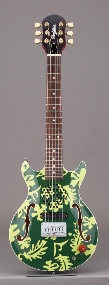 Woodstics Guitars WS-MINI ALOHA Deep Green & Green Aloha スピーカー内蔵ミニギター ソフトケース付