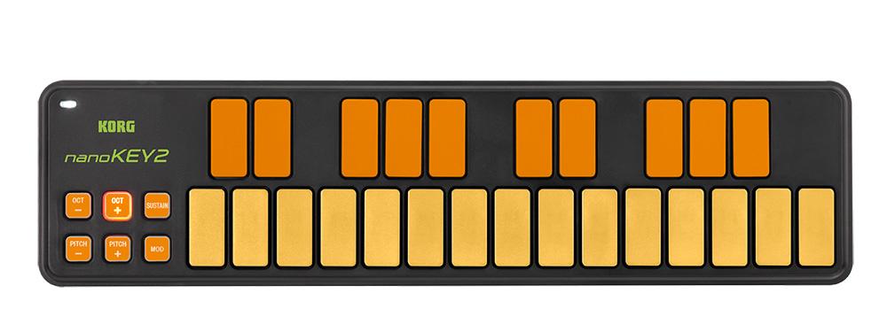 KORG NanoKEY2-ORGR 25鍵ミニ鍵 USBキーボード・コントローラー オレンジ&グリーン・モデル