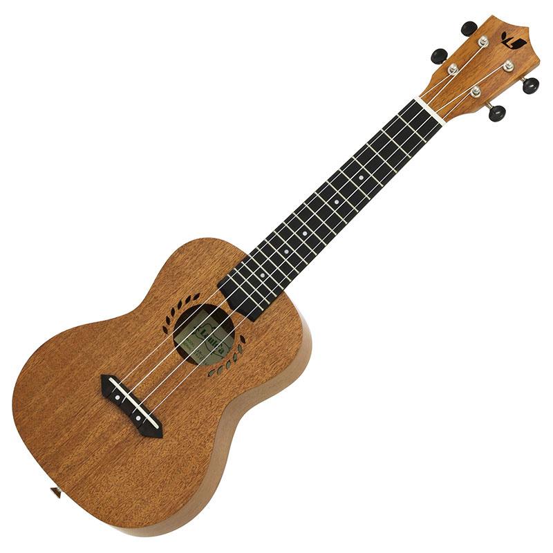 Laule'a LAM-1C Mahogany Concertoギグバック付 【クリップチューナーサービス】