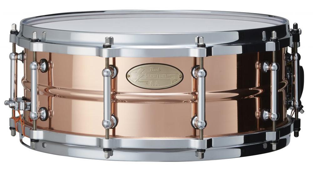 真矢&Pearl コラボレーション・スネアドラム STA1455CO/SY SenstiTone Copper supervised by 真矢【スネアケース付き】