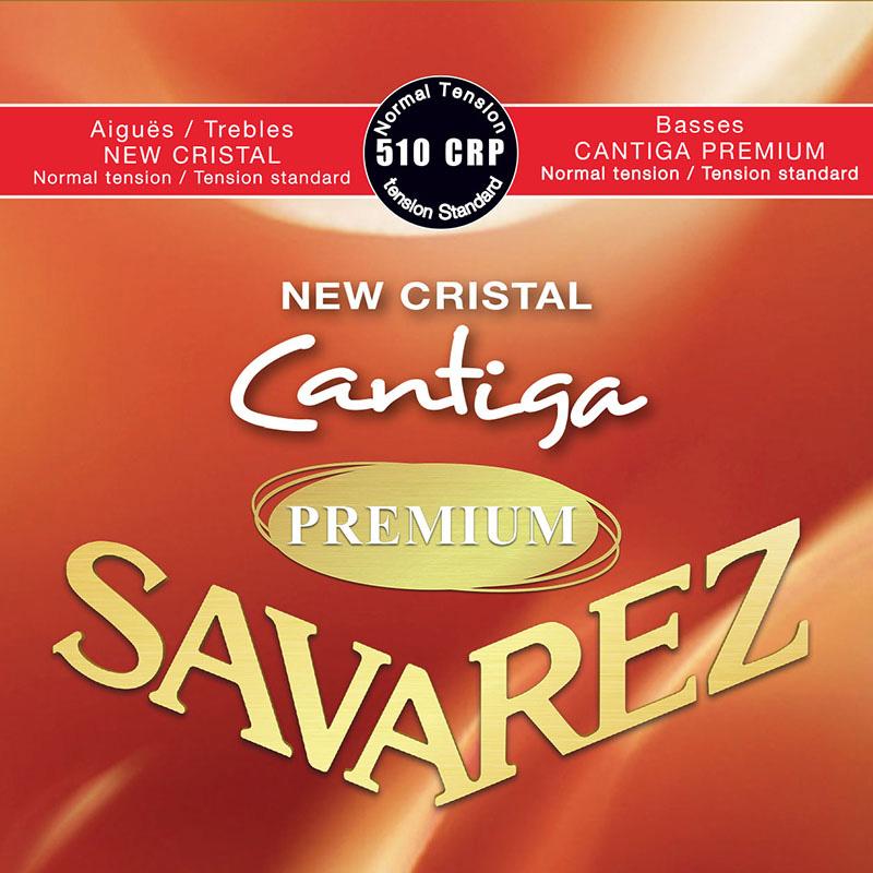 メール便 送料180円 対応可能 いつでも送料無料 SAVAREZ 510CRP NEW CRISTAL Normal クラシックギター弦 tensionを CANTIGA 1set サバレス PREMIUM お買得