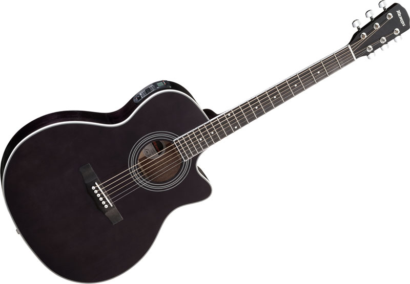 Morris R-401i SBK:シースルーブラックモーリス エレアコ ギター