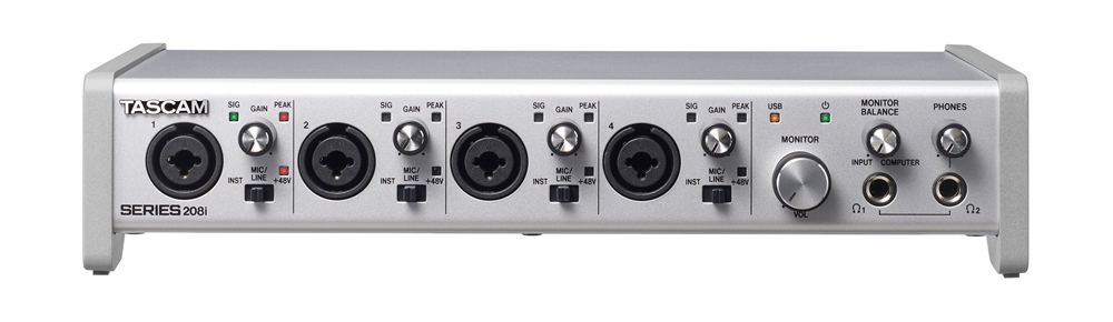 TASCAM オーディオインターフェイス SERIES 208i 20 IN/8 OUT USB Audio/MIDI Interface