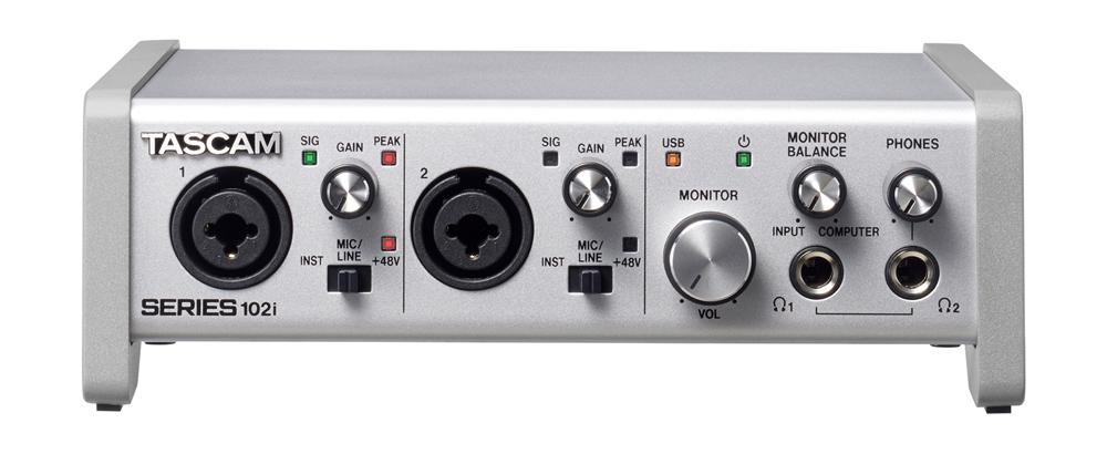 TASCAM オーディオインターフェイス SERIES 102i 10 IN/2 OUT USB Audio/MIDI Interface