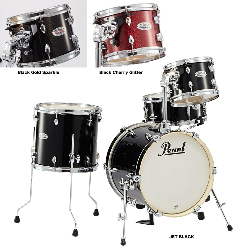 Pearl(パール) MIDTOWN ドラムシェルパック ブラックゴールドスパークル MDT764P/C No.701 Black Gold Sparkle