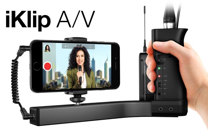 IK Multimedia iKlip A/V スマートフォン用グリップ