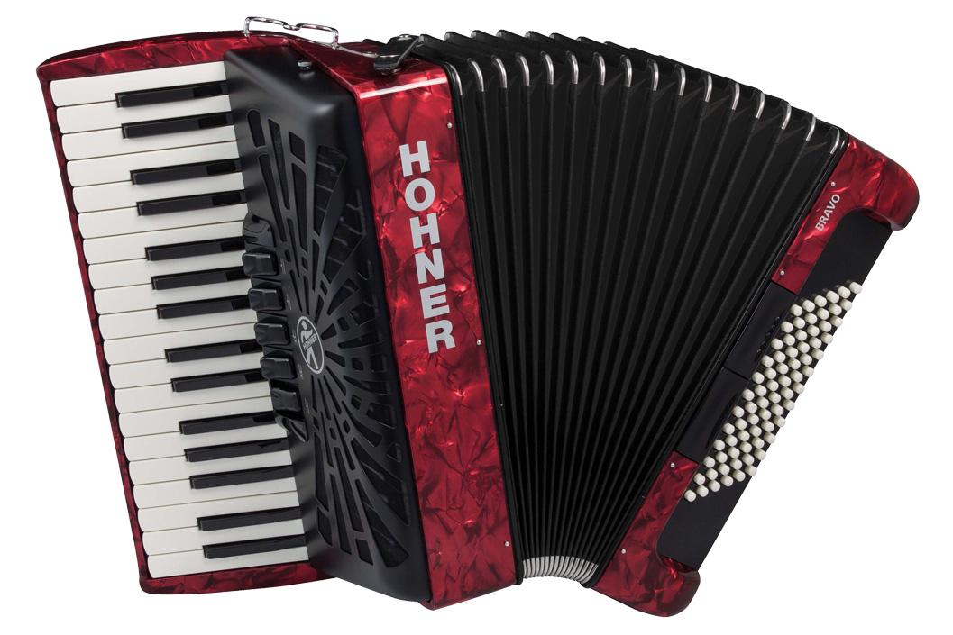 Hohner クロマチック・ピアノキー Bravo III 72 赤