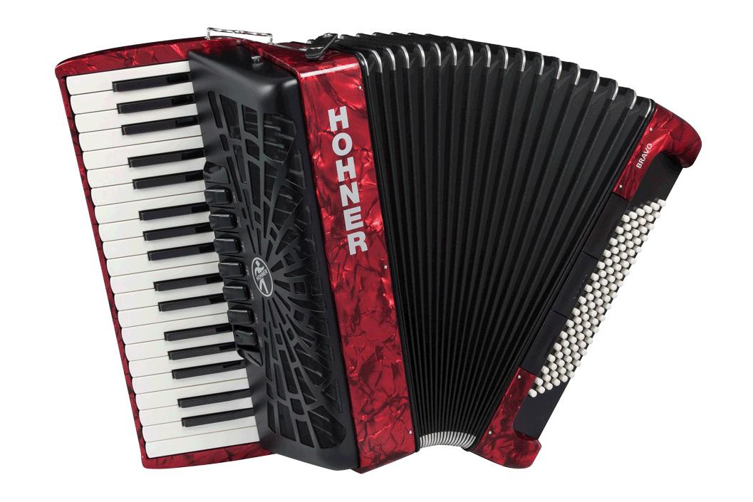 Hohner クロマチック・ピアノキー Bravo III 96 赤