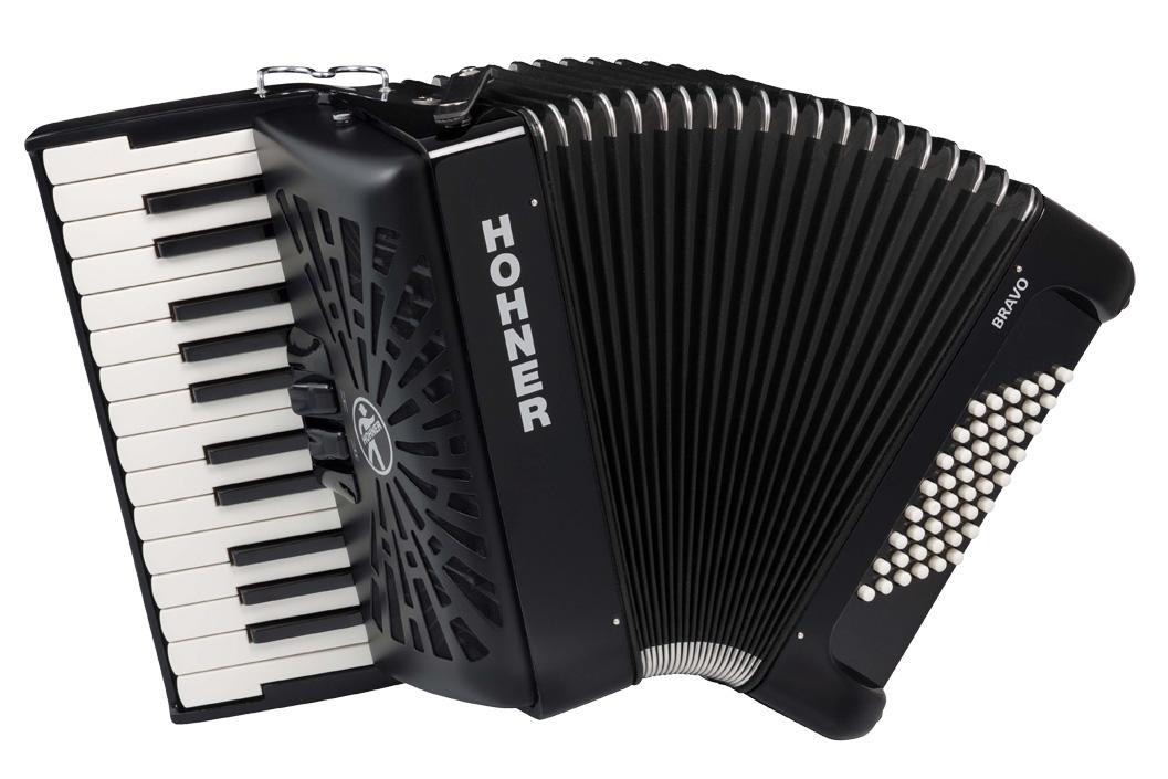 Hohner クロマチック・ピアノキー Bravo II 48 黒