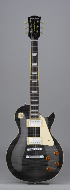 GrassRoots(グラスルーツ) エレキギター G-LP-60S/STBK STBK(See Thru Black)オリジナル猫ピック6枚サービス