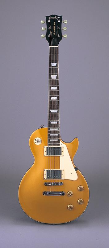 GrassRoots(グラスルーツ) エレキギター G-LP-60S/GO GO(Gold)オリジナル猫ピック6枚サービス