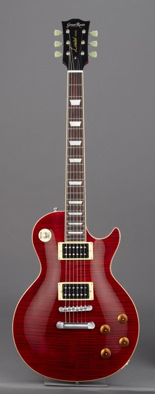 GrassRoots(グラスルーツ) エレキギター G-LP-60S/STR STR(See Thru Red)オリジナル猫ピック6枚サービス