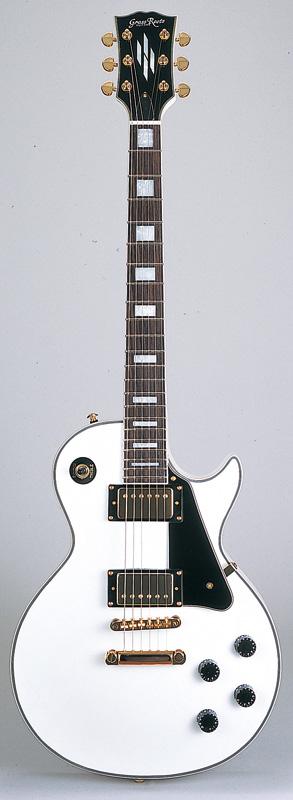 GrassRoots(グラスルーツ) エレキギター G-LP-60C/WH WH(White)オリジナル猫ピック6枚サービス