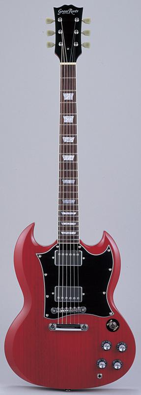 GrassRoots(グラスルーツ) エレキギター G-SG-55L/CH CH(Cherry)オリジナル猫ピック6枚サービス