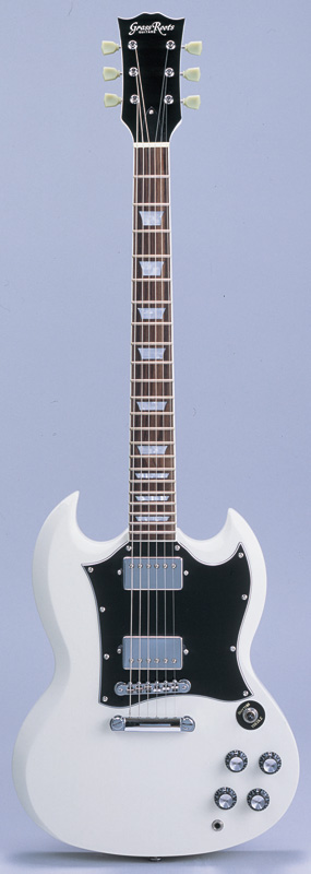 GrassRoots(グラスルーツ) エレキギター G-SG-55L/WH WH(White)オリジナル猫ピック6枚サービス