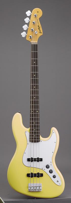 GrassRoots(グラスルーツ) エレキギター G-JB-55R/Y Y(Yellow)オリジナル猫ピック6枚サービス