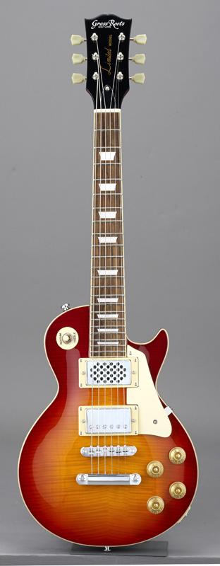 エレキギター GrassRoots(グラスルーツ) CHS(Cherry G-LPS-MINI/CHS Sunburst)オリジナル猫ピック6枚サービス
