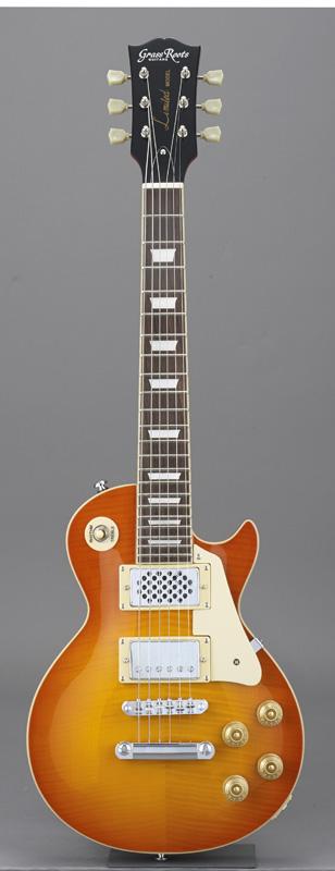 ソフトケースサービス GrassRoots グラスルーツ エレキギター G-LPS-MINI 高品質 1着でも送料無料 Burst VHB Vintage Honey オリジナル猫ピック6枚サービス