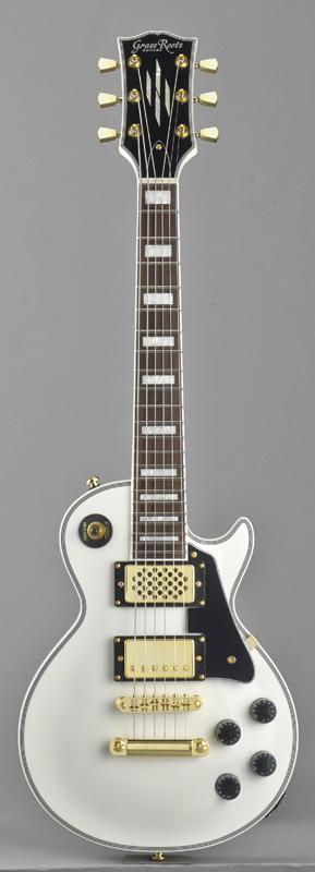 GrassRoots(グラスルーツ) エレキギター G-LPSC-MINI/WH WH(White)オリジナル猫ピック6枚サービス