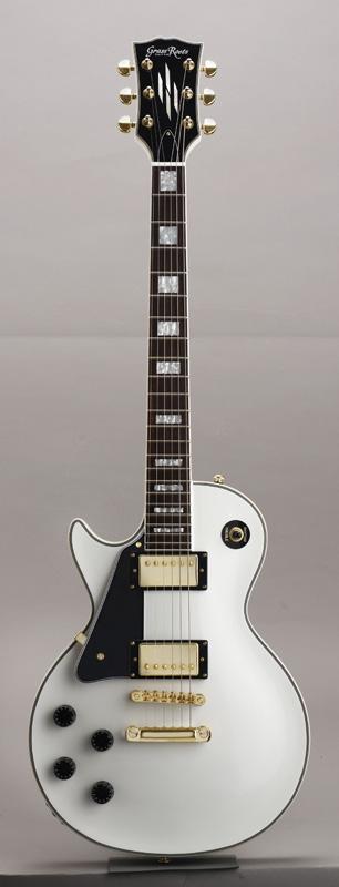 GrassRoots(グラスルーツ) エレキギター 左利き用 G-LP-60C-LH/WHT WHT(White)オリジナル猫ピック6枚サービス