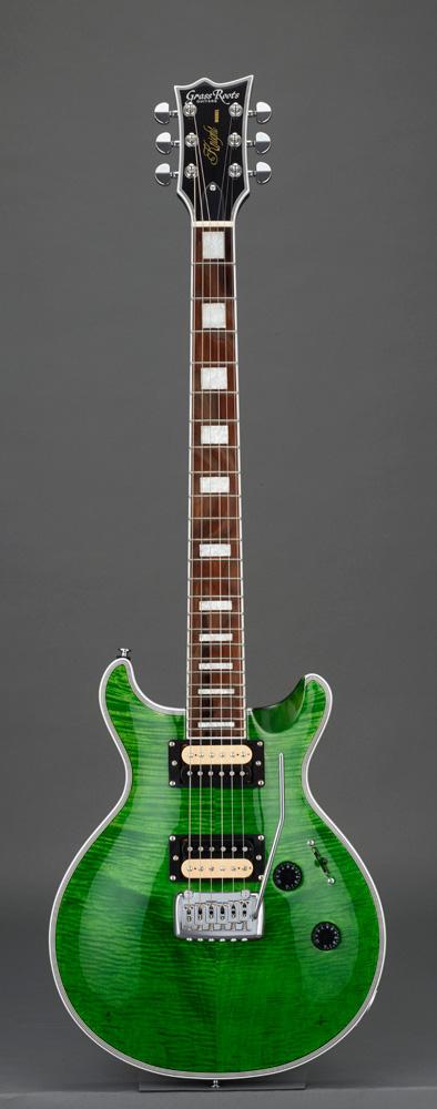 GrassRoots(グラスルーツ) エレキギター G-KT-CTM See Thru Green ソフトケースサービス