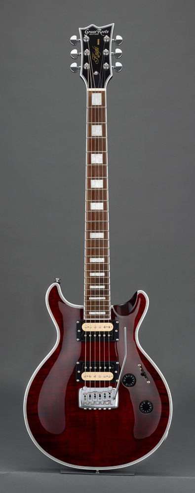GrassRoots(グラスルーツ) エレキギター G-KT-CTM See Thru Red ソフトケースサービス