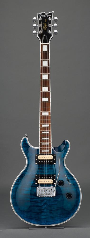 GrassRoots(グラスルーツ) エレキギター G-KT-CTM See Thru Blue ソフトケースサービス