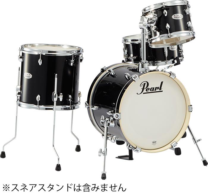 【専用ケース付限定モデル】Pearl パール MDT764P/C-BG No.701 Black Gold Sparkle MID TOWN ドラムシェルパック