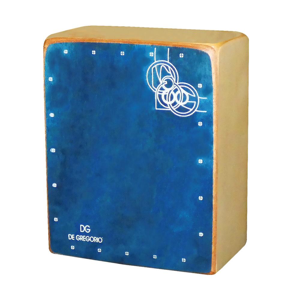 かわいいルックス DeGregorio 期間限定の激安セール MINI CAJON カホン 直営店 BLUE ミニ