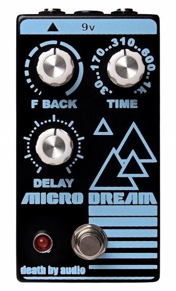 【レビューを書いて次回送料無料クーポンGET】Death by Audio Micro Dream エフェクター【1年保証】【デスバイオーディオ】【マイクロドリーム】【新品】