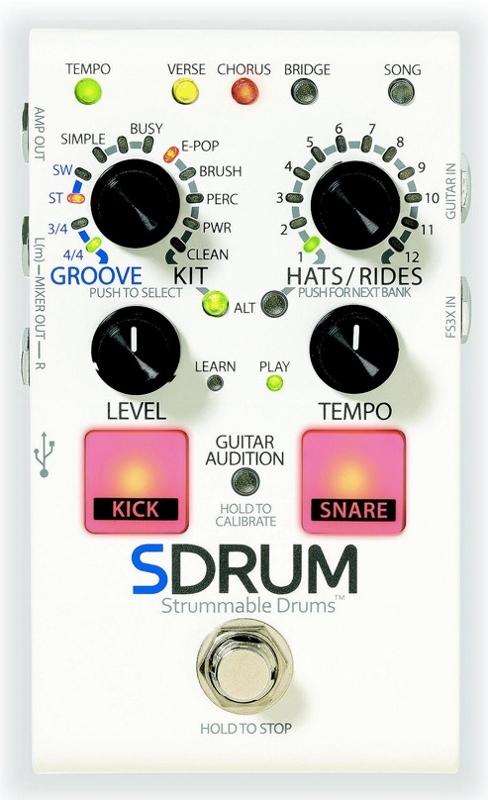 ギター ベース用ドラムマシン 新品 送料無料 DigiTech SDRUM いよいよ人気ブランド 並行輸入品 デジテック 新品 Drums Strummable 直輸入品