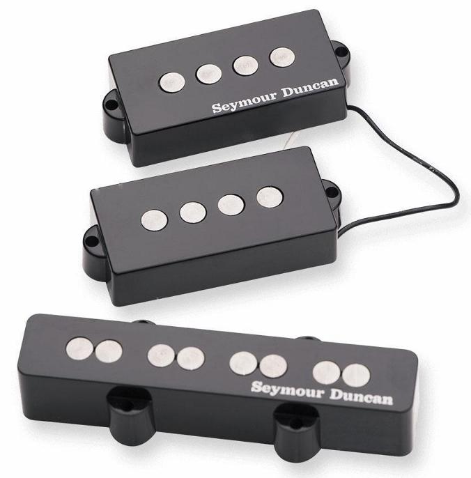 Seymour Duncan Quarter Pound P-J Bass Set - Black [並行輸入品][直輸入品] 【セイモアダンカン】【新品】