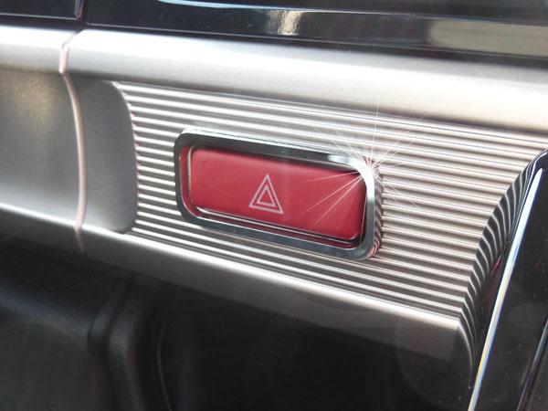カーアクセサリー 内装 早割クーポン インテリアパーツ 有名な メッキ 車種専用設計 マツダ フレアワゴン H30.2~専用 ハザードスイッチトリム クローム FLAIR WAGON