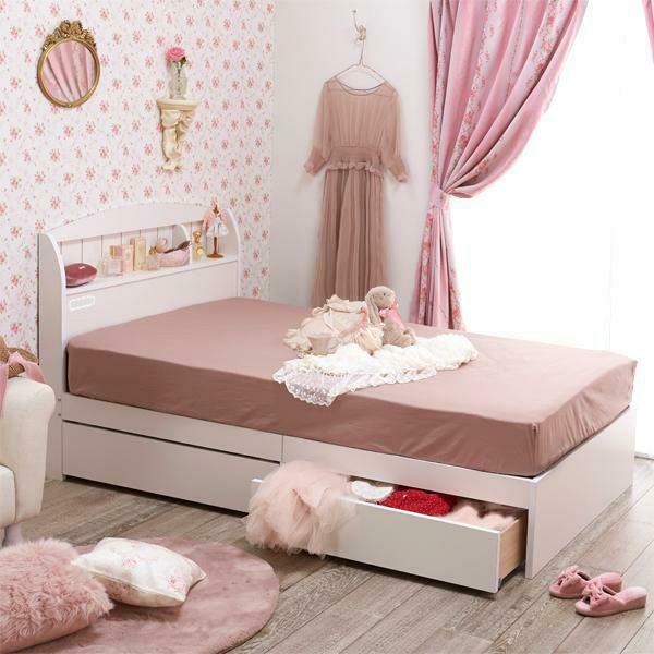 大人気の大量収納ベッドをマットレスセットでお得にゲット 大量収納ベッド ポケットコイルマットレス付 シングル 送料無料/新品 ホワイト 大型 新作送料無料
