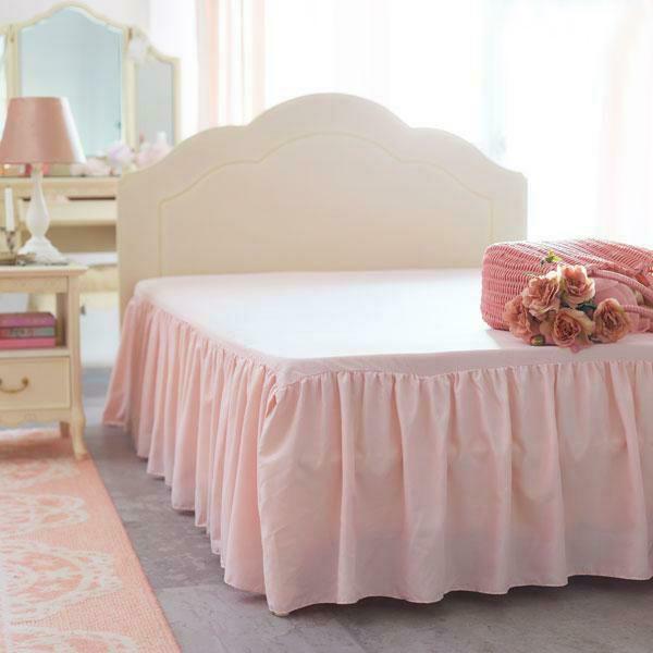 フリルたっぷりのスカート仕様でお気に入りのベッドをドレスアップ やわらかなピーチスキンのような微起毛素材を使用した 再再販 ベッドスカート付きボックスシーツ シンプルベッドスカート セミダブル ピンク 姫系 かわいい プリンセス 日本正規代理店品 姫系家具 お姫様 ロマンティック 姫インテリア 可愛い カワイイ おしゃれ