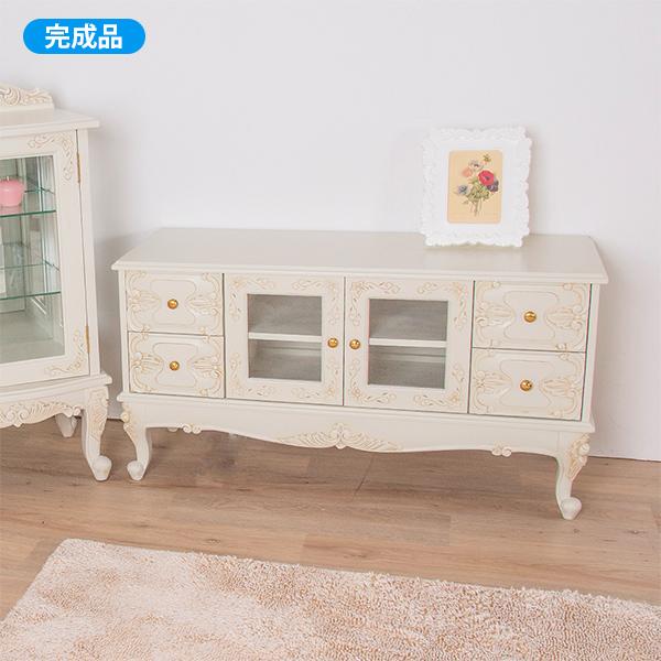 アンティーク調猫脚テレビボード(幅105cm)/ウォッカ【直送】
