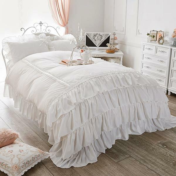 ミルフィーユ掛け布団カバー(洋ダブル・ホワイト)