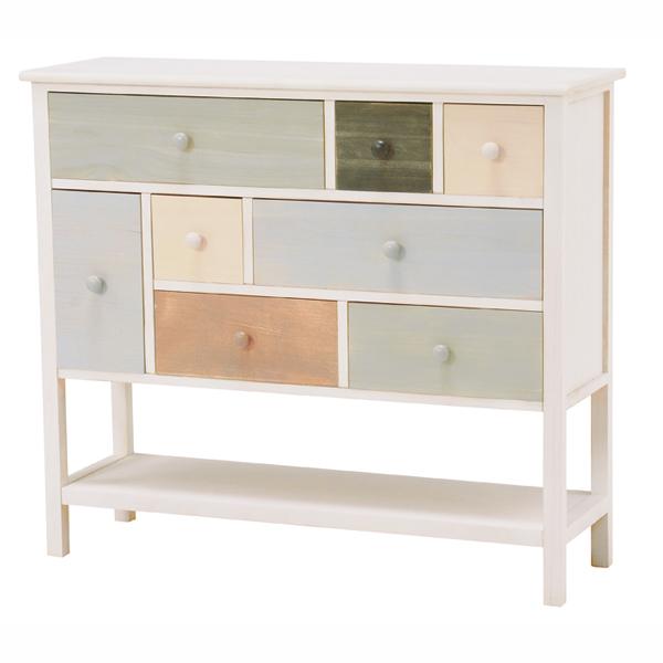 【リニューアル】マルチカラーシリーズ家具(チェスト・幅92cm・奥行き30cm・高さ80cm)【直送】