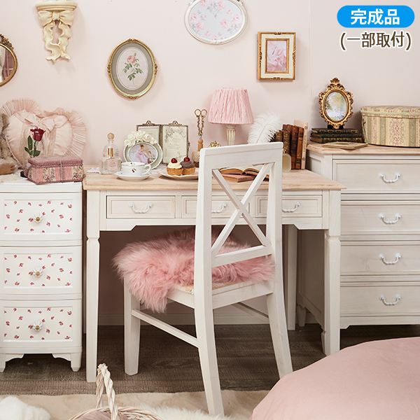Desk antique style furniture UB60 desk (PC desk wooden white white antique  work desk PC ... - Mutow: Desk Antique Style Furniture UB60 Desk (PC Desk Wooden White